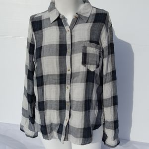 Maurices | Plaid Flannel Button Down Top size XXL